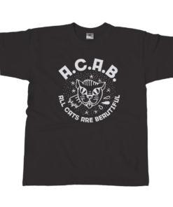 acab t-shirt / black