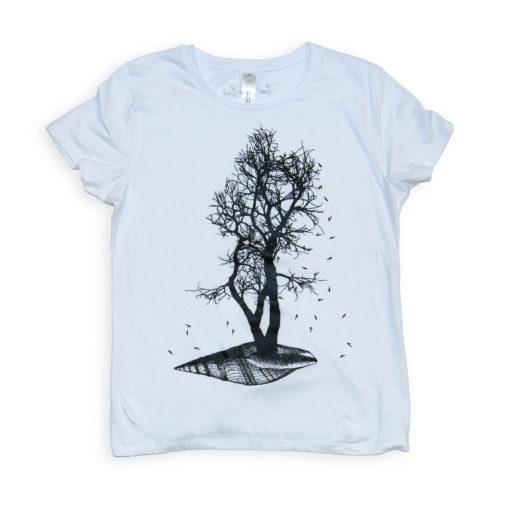 shell t-shirt serigrafata a mano