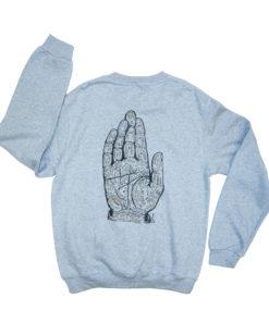 hand lines sweatshirt