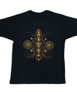 t-shirt-sacred-geometry-HANDMADE PRINT