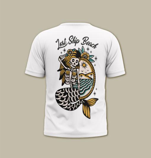SIREN T-SHIRT TATTOO DESIGN serigrafia artigianale / handmade screenprint